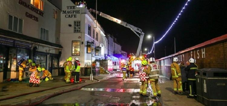 Fire breaks out at renowned fish & chip restaurant, The Magpie Cafe