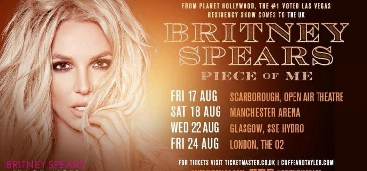 Britney Spears is heading to Scarborough Open Air Theatre