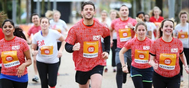 Sport Relief Mile at Peasholm Park